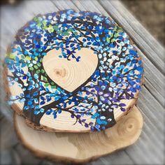 Live Edge Wood Wedding Cake Topper featuring by JenniferLenoxVT