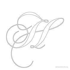Alphabet Stencils Calligraphy H