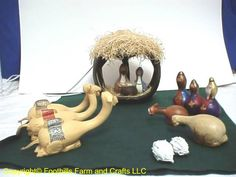 Gourds Crafts | Nativity Scene with light