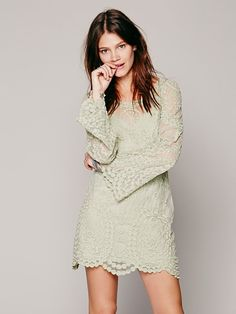 I like the cut of this dress! //Free People Commemorative Bell Sleeve Dress, $168.00