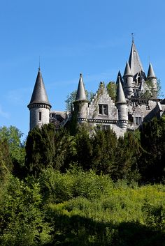 Chateau De Noisy, hidden in the forest around Celles, Wallonia, Belgium (by Bart Boeyen).