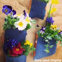 DIY Plant Pockets with Recycled Denim -