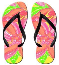 Unisex V Flip Flops Tropical Beach Paradise Personalized Summer Slipper
