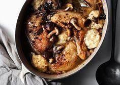 Chicken and Dumplings with Mushrooms - Bon Appétit