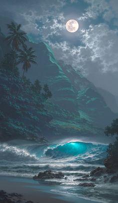 Moonlight interlude (giclee on canvas) • artist: Roy Tabora
