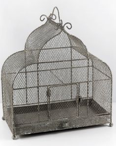 "Decorative Bird Cages Large 17"" x 17"" Metal Cage $55"