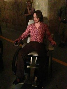 James Mcavoy as Professor X in X-Men: Days of Future Past.