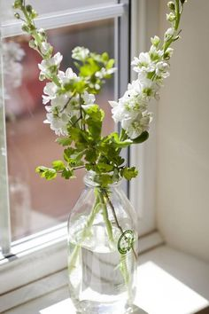 Flowers in a milk bottle.  Found on Southern Fried and Dignified, on Facebook.
