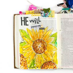 a walk through of some of Amy Bruce's favorite Bible Journaling entries and how this journey has changed her Faith Bible, My Bible, Bible Art, Bible Verses, Chloe Gifts, Book Of Deuteronomy, Journal Inspiration, Inspiration Wall, Bible Pictures