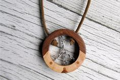 Necklace  Rustic Handmade Peace Sign  Mens Jewelry by TheLotusShop, $14.95
