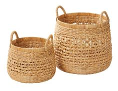 From Tara's Aquitaine range, these baskets are sturdy, ideal space savers and woven from natural water hyacinth Size Small 26 x or Large 38 x Colour Natural Material Water Hyacinth with a metal frame Care Information Spot clean with a damp cloth Kids Toy Store, Water Hyacinth, Azores, Metal, Shelving, Baskets, Cushions, Storage, Home Decor