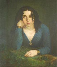 1829-1862 Elizabeth Siddal. Así se vio en el años 1854