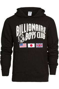 Long Sleeves Pullover Color: Black Front Pouch Pocket Embroidered Chest / Back Graphics Billionaire Boys Club, Black Hoodie, Pullover, Hoodies, Long Sleeve, Sleeves, Sweaters, Fashion, Moda