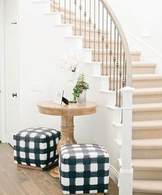 Gorgeous entry - those stools! | Caitlin Wilson