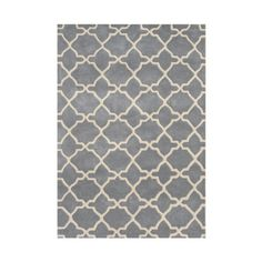 The Conestoga Trading Co. Vale Hand-Tufted Gray/Beige Area Rug Rug Size: 5' x 8'