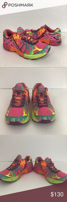 f065c5c8df221 ASICS Gel Noosa Tri Running Workout Shoes 5 Size 5 Multi color gel noosa  tri Running tennis shoes Workout athletic gym No major flaws Asics Shoes  Sneakers