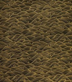 Japanese Chiyogami  The Black with Gold Waves Chiyogami is silkscreened onto machine-made  sheets of mixed kozo and sulphite.  Japanese Chiyogami is a very  cooperative and beautiful paper that is an excellent choice for  bookbinding, collage, greeting cards, box making, book arts, and  jewelry.