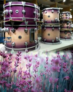 Natural to Lavender burst. #dwrums #thedrummerschoice
