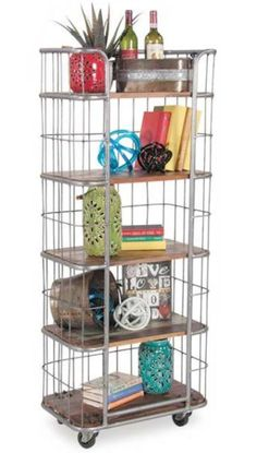 American Furniture Warehouse stocks vintage industrial furniture by Shivam International at the lowest prices anywhere! Unique Bookshelves, Bakers Rack, Room Ideas, Decor Ideas, Vintage Industrial Furniture, Rack Shelf, Spare Room, Rustic Charm, Cabinets