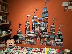 Disney castle on the wall out of pictures