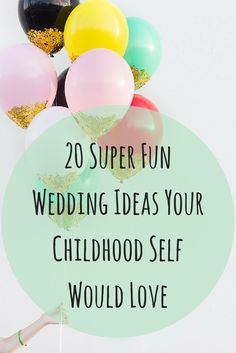 Lots of awesome wedding ideas and inspiration that will fill your big day with fun and just the right amount of nostalgia :)