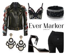 """""""Rock Folk"""" by evermarkerofficial ❤ liked on Polyvore featuring Elie Saab, STELLA McCARTNEY, Glamorous and Marc Jacobs"""