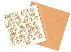 Rumi Quotation Greeting Card  Love / Wedding / by MyMumAndMeQuotes