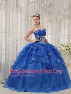 Quinceanera Dresses shop offers Cute Sweet Sixteen Dresses - Luxurious Royal Blue Sweet 16 Dress Strapless Organza Beading Ball Gown, blue- Cute Sweet Sixteen Dresses,cheap floor-length organza- sweet 16 dress with lace up back and for military ball-sweet Sweet Sixteen Dresses, Sweet 15 Dresses, Saint John, Affordable Dresses, Cheap Dresses, Halter Tops, Commonwealth, Arkansas, Prom Dress 2014