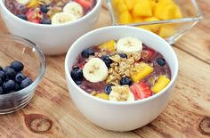Do breakfast correctly ways to get rid of adrenal fatigue acai fruit bow Power Breakfast, Savory Breakfast, The Breakfast Club, Vegan Breakfast Recipes, Breakfast Bowls, Acai Fruit Bowl, Lchf, Healthy Fruits, Healthy Snacks
