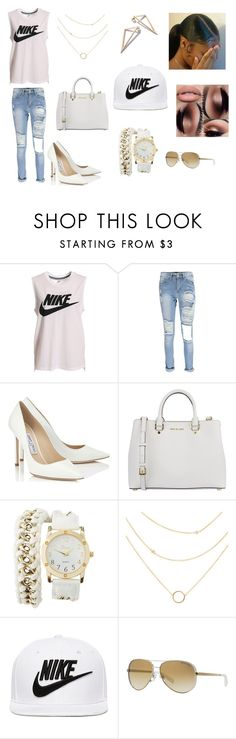 """""""Nike"""" by xoxoqueenlove on Polyvore featuring NIKE, Jimmy Choo, MICHAEL Michael Kors, Charlotte Russe and Michael Kors"""