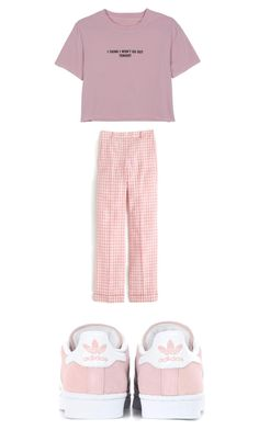 """""""Untitled #4502"""" by bellagioia ❤ liked on Polyvore featuring WithChic, J.Crew and adidas Originals"""
