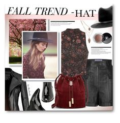"""Fall Trend - HAT"" by beebeely-look ❤ liked on Polyvore featuring Emanuel Ungaro, Prada, Miss Selfridge, rag & bone, Vince Camuto, Arche and Chanel"