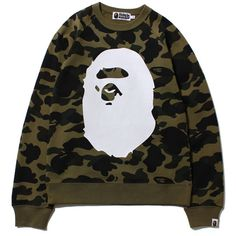 0b445f9680cb Buy and sell authentic BAPE streetwear on StockX including the BAPE Camo  Big Ape Head Crewneck Green from .