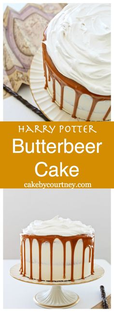 Tender cream soda and butterscotch cake layers, with butterscotch frosting, butterscotch caramel sauce and marshmallow cream make up this Harry Potter inspired…