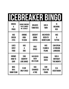 Icebreakers The Best Way To Get A Party Started Ideas For Amy pertaining to Ice Breaker Bingo Card Template - Professional Templates Ideas Family Reunion Games, Family Games, Group Games, Ice Breaker Bingo, Bingo Card Template, Material Didático, Team Building Activities, Building Games, Team Building Exercises