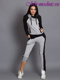 Спортивная мода 2017 - Women's style: Patterns of sustainability Sport Fashion, Fashion 2017, Look Fashion, Fitness Fashion, Fashion Dresses, Sweatpants Outfit, Hoodie Outfit, Sport Chic, Sporty Outfits