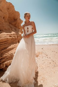 """Beautiful """"Serena"""" gown from our S/S 2021 bridal collection. We invite you all to see the entire new collection in our website: www.ohadkrief.com Couture Wedding Gowns, Wedding Dresses, Young Fashion, Bridal Collection, Evening Gowns, Invite, One Shoulder Wedding Dress, Website, Inspiration"""