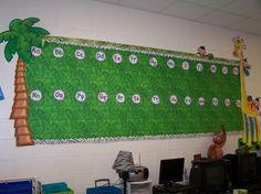 jungle theme word wall by chasity Jungle Theme Rooms, Jungle Theme Classroom, Classroom Decor Themes, Safari Theme, Classroom Organization, Classroom Ideas, Jungle Safari, Classroom Design, Classroom Inspiration