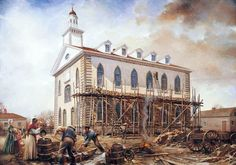 Latter-day Saints Building Kirtland Ohio Temple Darkness At Noon, Kirtland Temple, Community Of Christ, Mormon History, History Pics, In Remembrance Of Me, Doctrine And Covenants, Lds Art, Church History