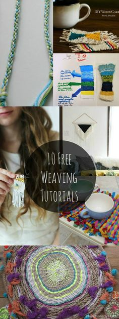 free weaving tutorials and inspiration - 10 project ideas with links to full instructions. Projects range from beginner to advanced, with lots of weaving ideas for kids to try too!
