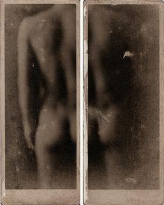 Francesco Viscuso, Musée de la Distance. Digital photo printed on paper, handworked with bitumen and varnish, 10 x 25.5 cm (apiece)