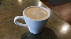 An awesome Latte coffee at Beanzy's in Mason City, iowa made with Almond milk. #Laurascats #MWtravel #coffee