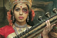 """Ad agency Taproot physically recreated scenes from old hand-painted images of Indian goddesses. 