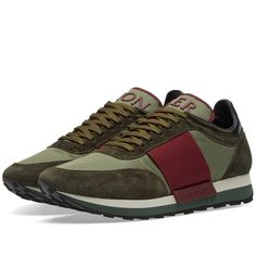 Buy the Moncler Horace Sneaker in Olive & Bordeaux from leading mens fashion retailer END. - only Fast shipping on all latest Moncler products Men's Shoes, Shoes Sneakers, Moncler, Adidas, Mens Fashion, Bordeaux 1, Stuff To Buy, Men's Footwear, Running