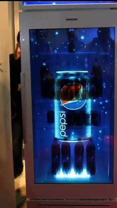 Here is an example of how transparent screens can be implemented into Point-of-Sale or Point-of-Display areas.