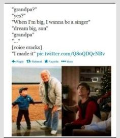Awwwww this makes me want to cry bc his grandpa died