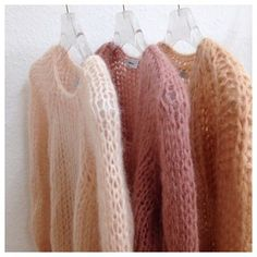 Some colours for wednesday. Cozy Fashion, Knit Fashion, Slow Fashion, Crochet Yarn, Knitting Yarn, Knitting Designs, Knitting Patterns, Mohair Sweater, Pulls