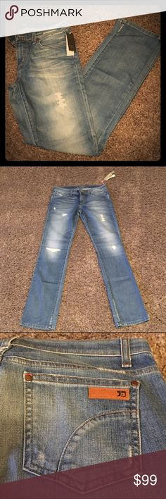 """🌟NWT🌟 Joes' Jeans """"The Best Friend"""" Jean 🌟NWT🌟 Joe's Jeans """"The Best Friend"""" in Danie.  98% Cotton 2% Lycra.  Medium blue wash with heavy fading and distressing.  Straight leg jean with 5 pockets zipper and button fly. Joe's Jeans Jeans"""