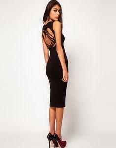 ASOS Midi Dress With Lattice Back $25