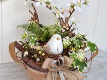 Frühlingsgesteck Vogel Easter Flowers, Fake Flowers, Dried Flowers, Deco Floral, Arte Floral, Spring Projects, Spring Crafts, Bird Nest Craft, Spring Home Decor